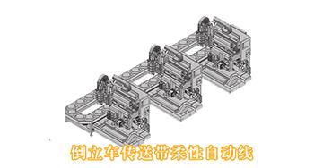 倒立车传送带柔性自动线