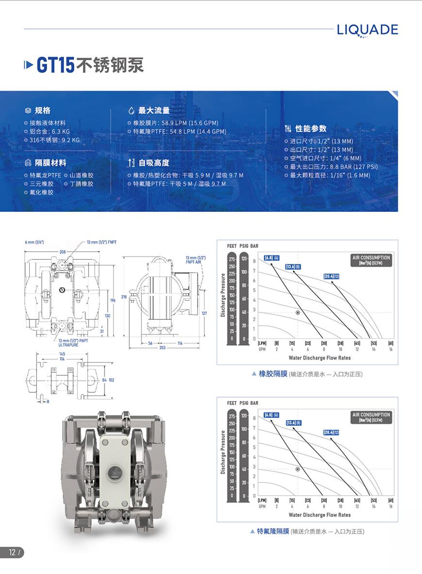 GT15不锈钢泵