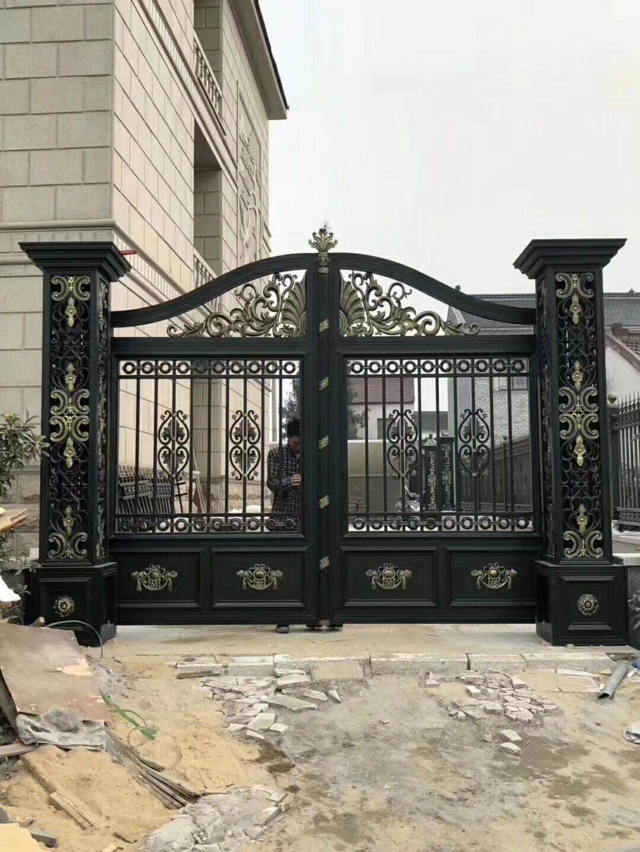 庭院铝艺大门安装