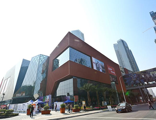 福州世欧广场外墙用铝单板安装