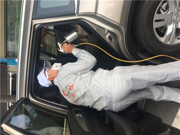 SUV汽车甲醛检测