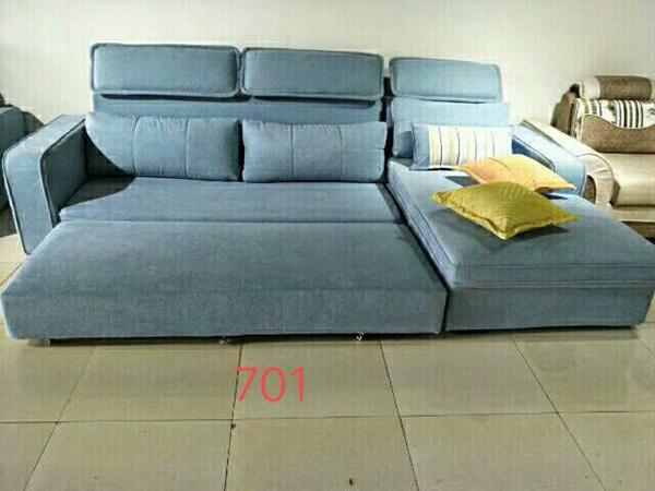 江油蓝色客厅布艺沙发