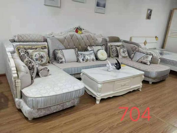 江油白色欧式布艺沙发