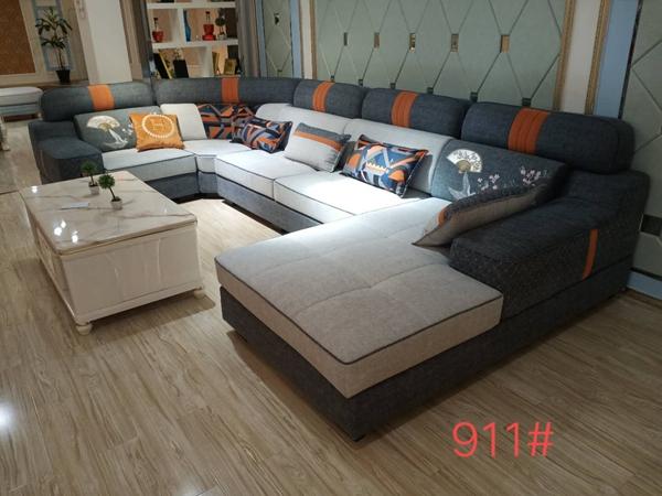 江油复古客厅布艺沙发