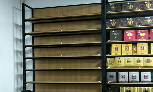 木纹超市货架