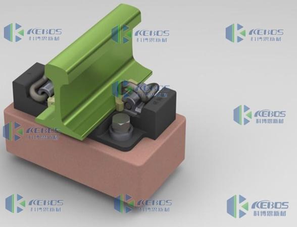 压缩型硫化粘接式减振扣件