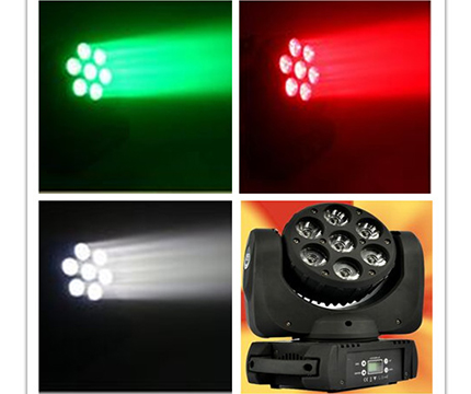 YF-909-LED7顆12W搖頭光束燈