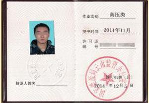 高压入网许可证
