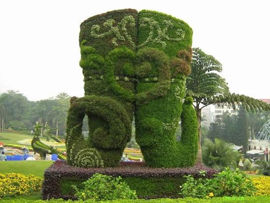 开封靓丽菊业设计的立体花坛造型曾多次获奖