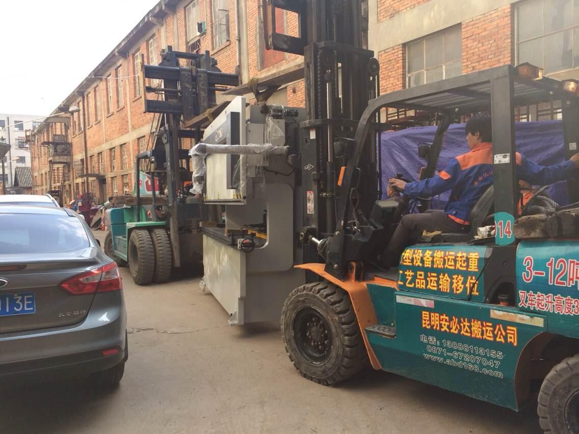 昆船车铣中心搬运重五十八吨吊装搬运案例
