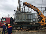 50吨变压器自吊自装案例