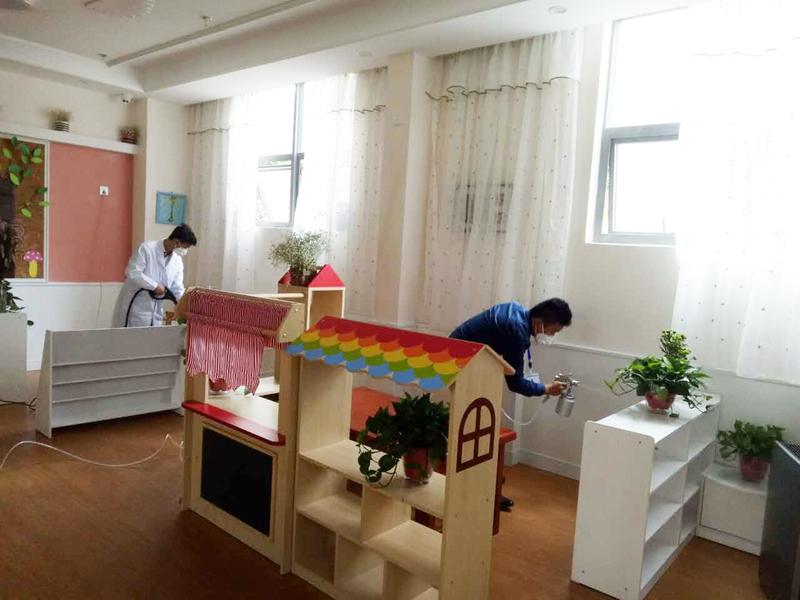 昆明市官渡區金福地幼兒園治理現場(500平米)