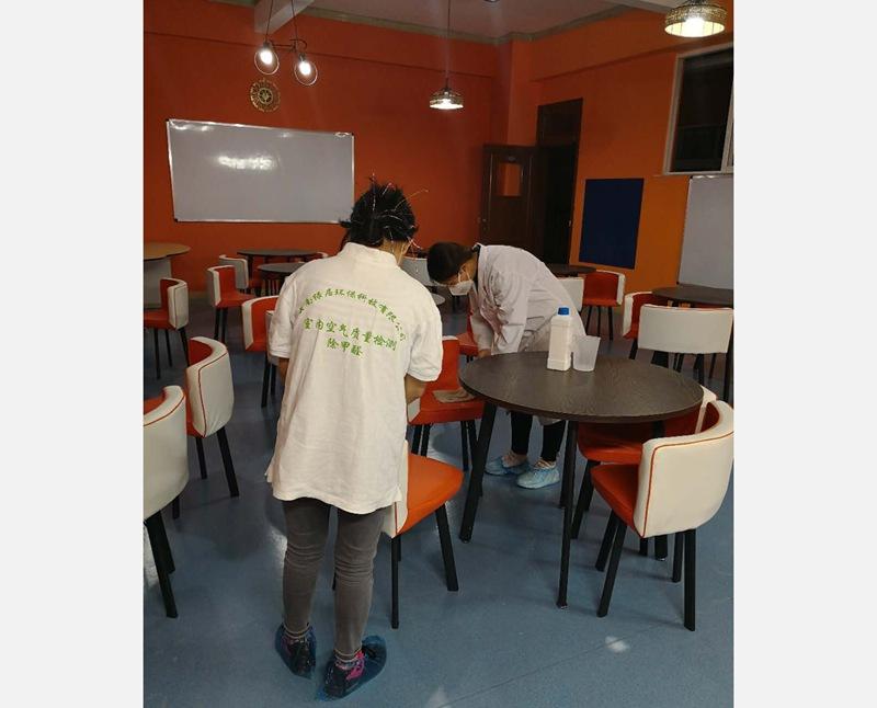 瓦薩文化傳播有限公司甲醛治理現場(280平米)