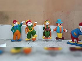 泡沫小丑雕塑