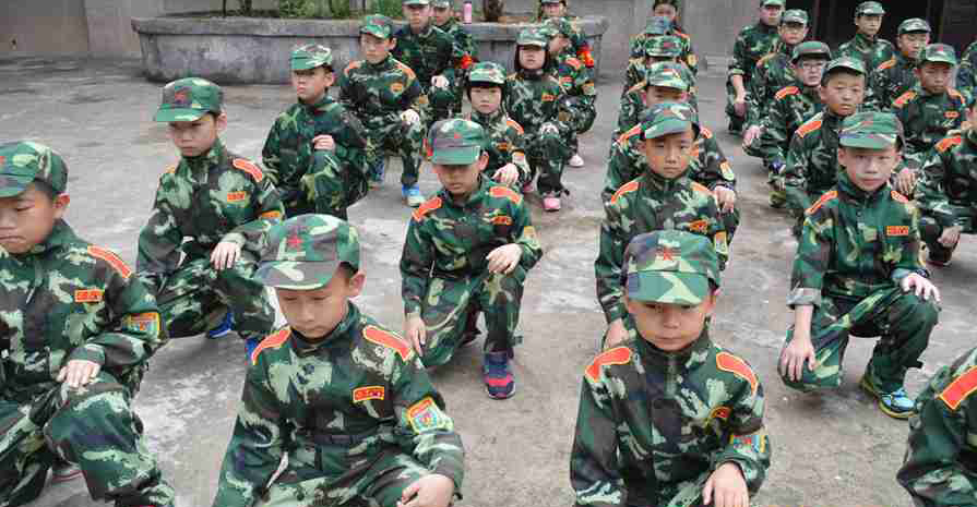 军事夏令营中心的活动让营员们学会了珍惜