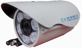 50米日夜全彩白光灯摄象机