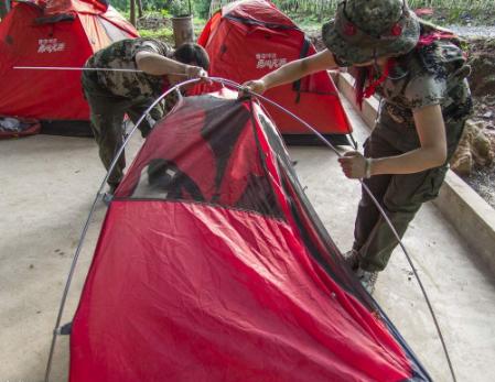 動手搭帳篷