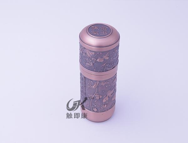 金玉满堂纯紫铜保温杯