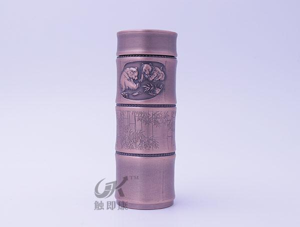 竹节纯紫铜保温杯