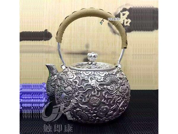 纯手工一体银烧水壶 4