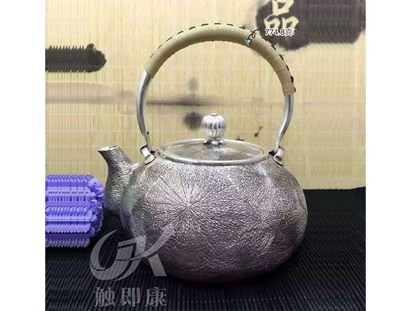 纯手工一体银烧水壶 10