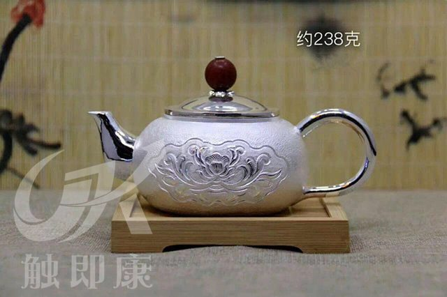 纯手工一体银茶壶 1