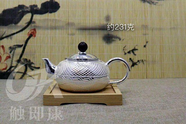 纯手工一体银茶壶 3