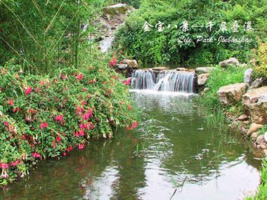 金宝山艺术陵园千层叠瀑