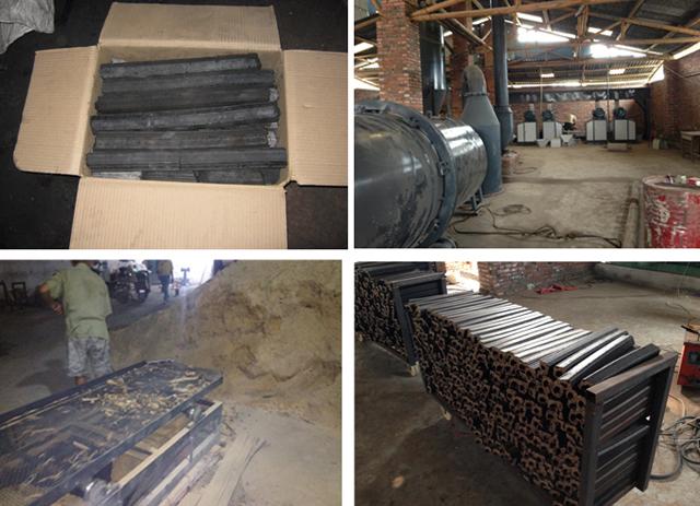 机制木炭设备安装