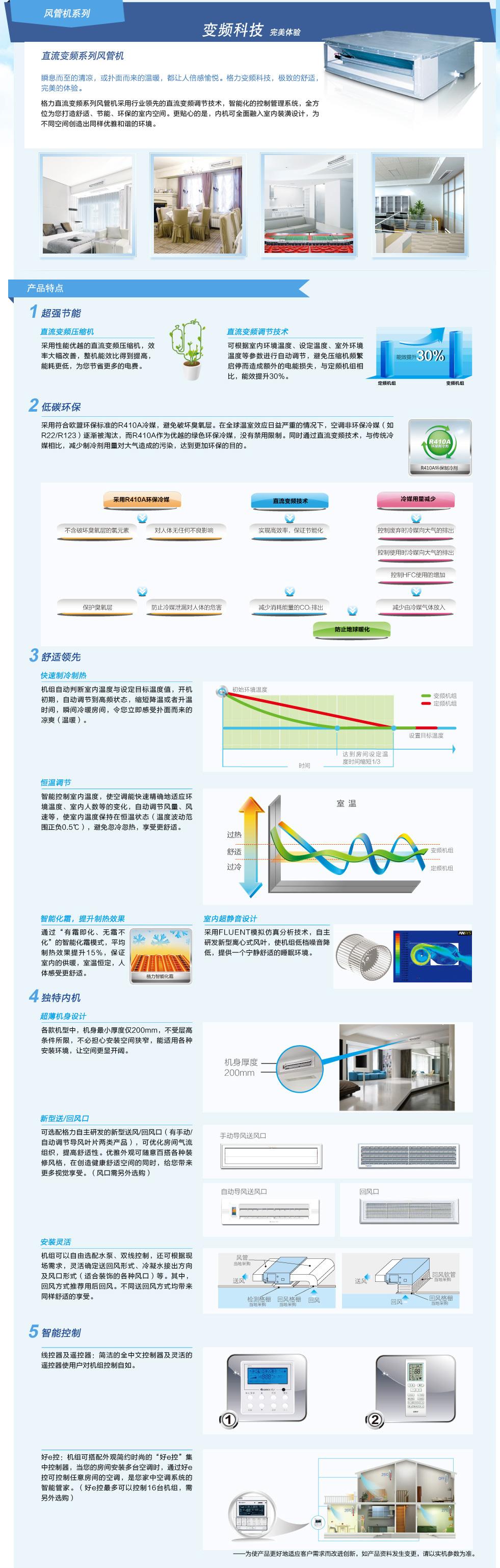 格力风管机·直流变频系列风管机