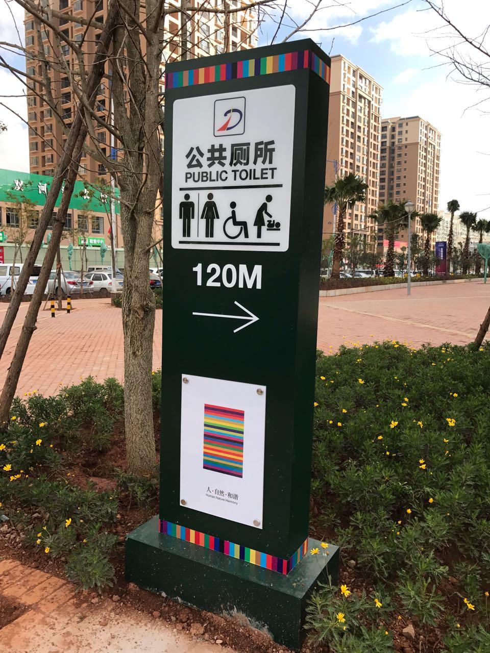 商业街区宣传牌
