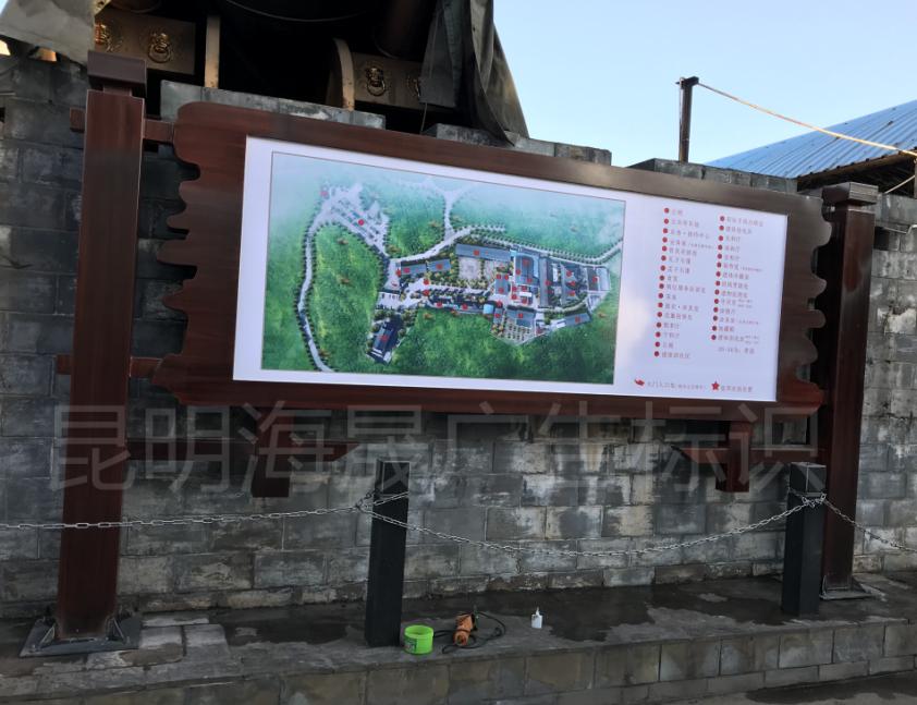 地图标示牌
