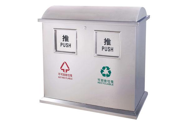 昆明不锈钢分类垃圾桶