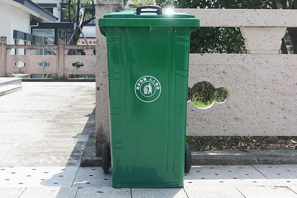 景区镀锌板垃圾桶