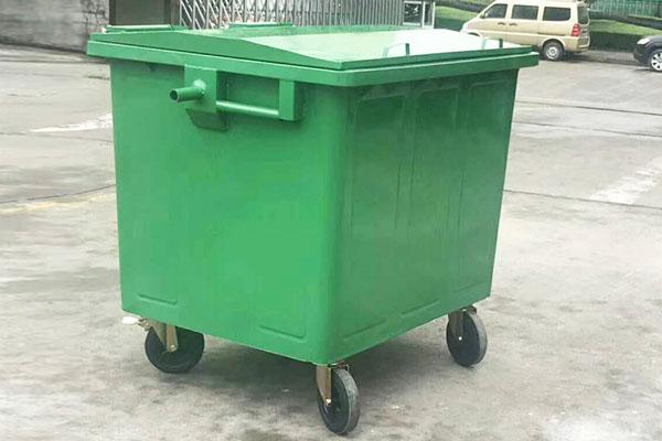 户外镀锌板垃圾桶