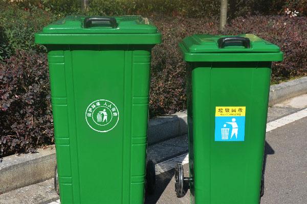 学校镀锌板垃圾桶