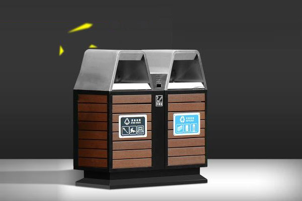 两类镀锌板垃圾桶