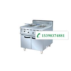 云南不锈钢厨具-燃气双缸炸炉连柜