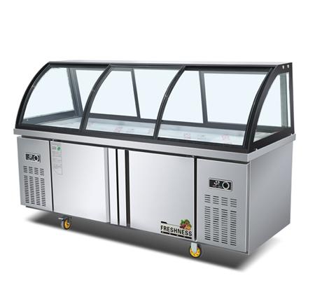 云南不锈钢厨房设备-双弧蛋糕柜