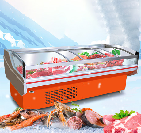 昆明不锈钢厨具价格-豪华风冷肉食展示柜