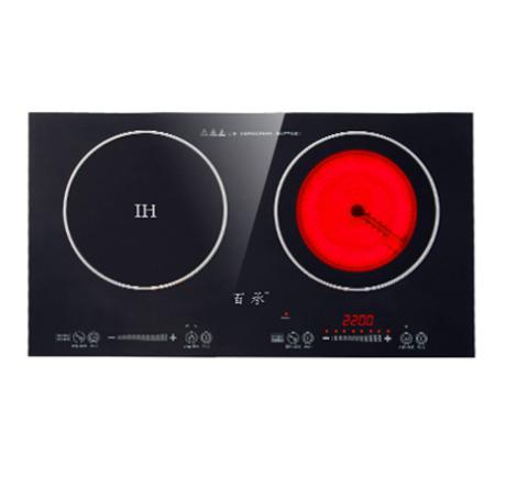 昆明不锈钢厨具厂-电陶炉+小炒炉 3.5KW 无排风(含汤桶+炒锅)
