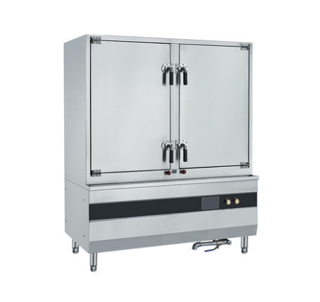 双门电磁蒸饭柜24盘