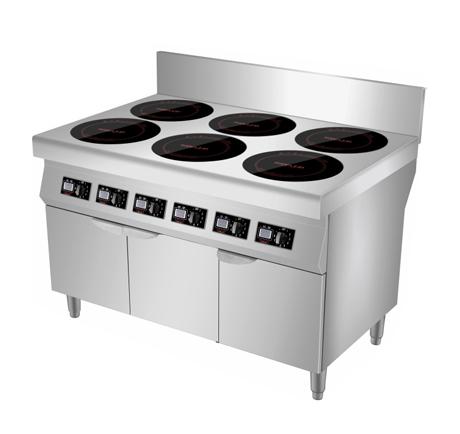 云南不锈钢厨房设备厂-六头煲仔炉