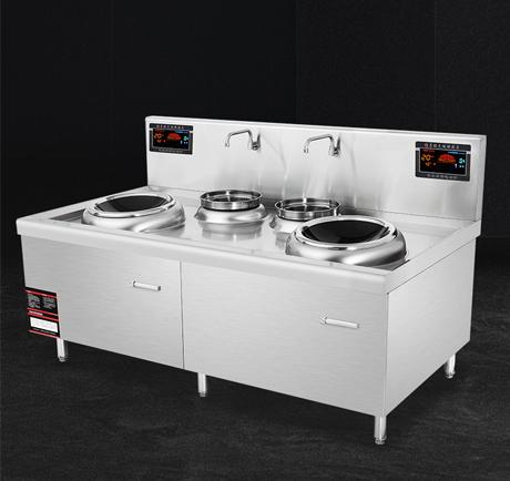 昆明厨具-双头双尾电磁炒炉