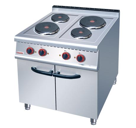 云南不锈钢厨房设备厂-四头电煮食炉连柜