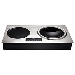 云南廚具批發-嵌入豪華型電磁爐+小炒爐-不銹鋼面板 3.5KW