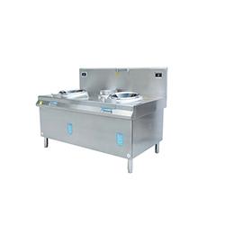 昆明厨具-双头单尾电磁小炒炉