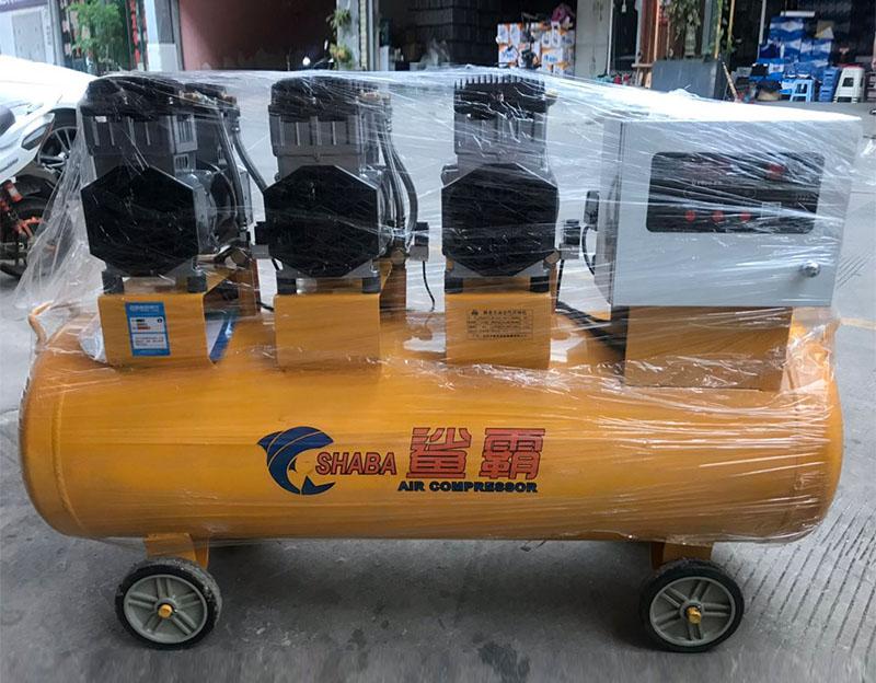 鲨霸3x1500w静音无油空压机