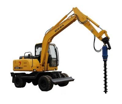 挖掘机加装螺旋钻机