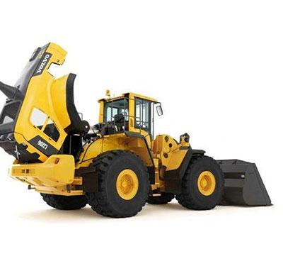 东川沃尔沃轮式装载机发动机机油耗量高维修